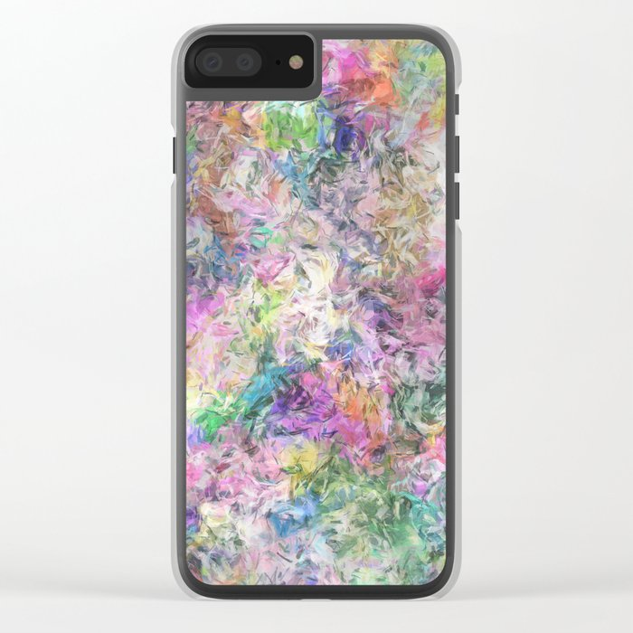 Textural Abstract Spectrum Clear iPhone Case