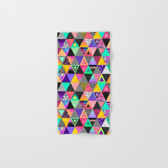 Quirky Triangles Hand & Bath Towel