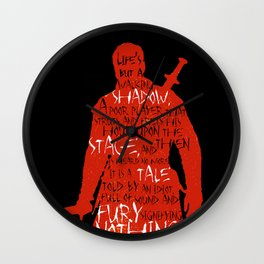 Walking Shadow - Macbeth Wall Clock