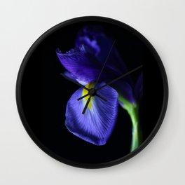 Moody Iris Wall Clock