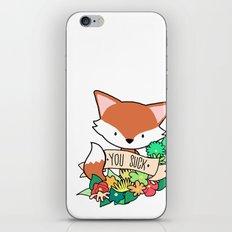 Red fox, YOU SUCK! iPhone & iPod Skin