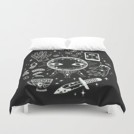 I See Your Future: Glow Duvet Cover