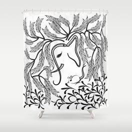 Jungle Ele Shower Curtain