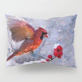 Red Birds of Christmas Pillow Sham