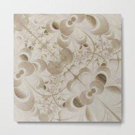 Abstract beige pattern Metal Print