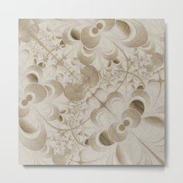Abstract beige pattern Metal Print