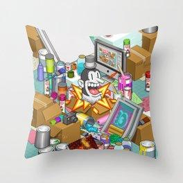 Pixel Studio Throw Pillow