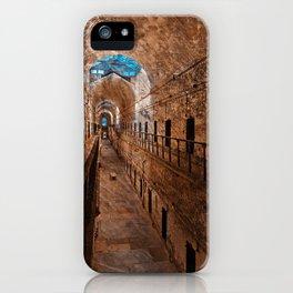 Prison Corridor - Sepia Blues iPhone Case