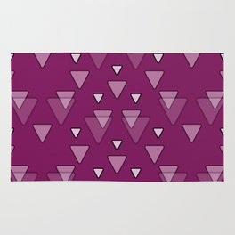 Geometric Triangles in Fuchsia Pink Rug