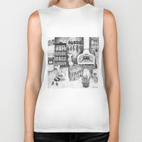 baking Biker Tanks featuring Baking Cats by Ulrika Kestere