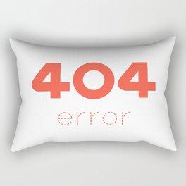 ERROR 404 red Rectangular Pillow
