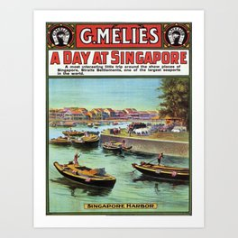 Vintage poster - Singapore Art Print
