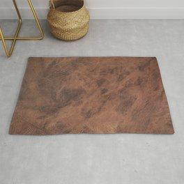 Old Tan Leather Print Texture | Cowhide Rug