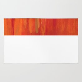 Red abstract painting Rug