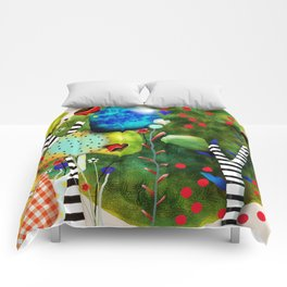 That´s how its got to be - Rupydetequila 2018 - Cactus nopal green and red polka dots Comforters
