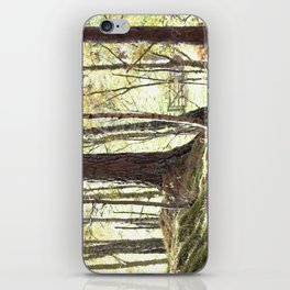 Leaves, Grass and gate lead to Walt Whitman of course iPhone Skin
