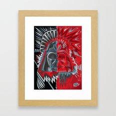Deconstruct Vader Framed Art Print