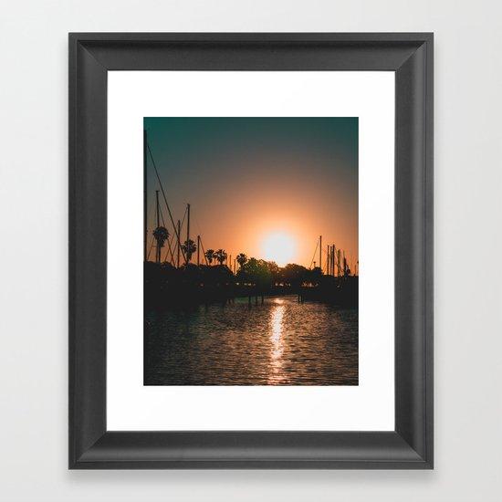 Marina Sunrise Framed Art Print