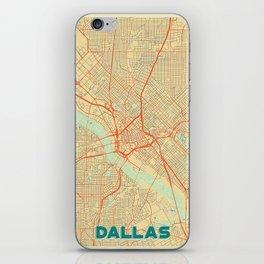 Dallas Map Retro iPhone Skin