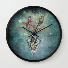 Butterfly Bottle Wall Clock