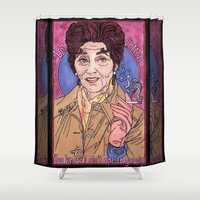 dot Shower Curtains featuring Dot by Easties Across the Pond