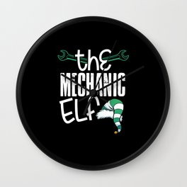 The Mechanic Elf Wall Clock