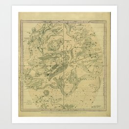 Atlas, Designed to Illustrate the Geography of the Heavens, plate IV (1850) Art Print