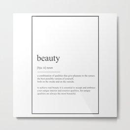 Beauty 546 Watercolor Map Yoga Quote Definition De Metal Print