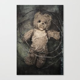 trapped teddy bear Canvas Print