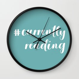 #currentlyreading (Green) Wall Clock