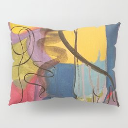 Crazy Mad World Multi Colored Abstract Pillow Sham