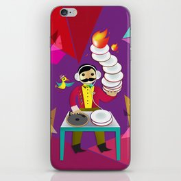 DJ Moustache  iPhone Skin