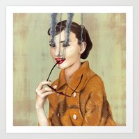 audrey hepburn Art Prints featuring Audrey Hepburn by FAMOUS WHEN DEAD