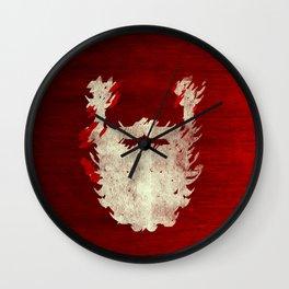 Santa Beard 1 Wall Clock