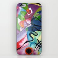 kandinsky iPhone & iPod Skins featuring KANDINSKY - oil painting by Heaven7