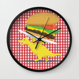 Burger Dragon Wall Clock