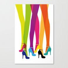 Bright High Heels Canvas Print