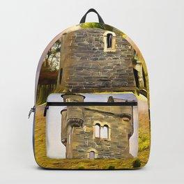 Helens Tower, Conlig , Ireland. (Painting) Backpack
