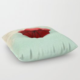 Red Umbrella Floor Pillow