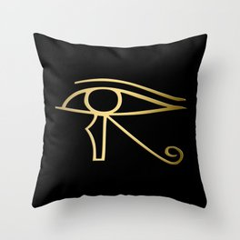 Eye of Horus Egyptian symbol Throw Pillow