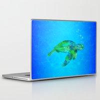 sea turtle Laptop & iPad Skins featuring Sea Turtle  by MacDonald Creative Studios