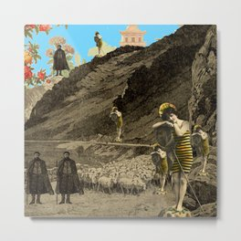 SHEPHERDS AND BUMBLEBEES... AND SHEEP Metal Print
