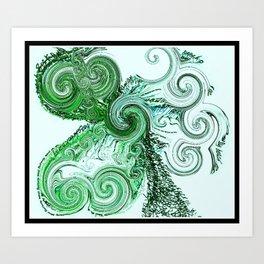 Swirling Shamrockway Art Print