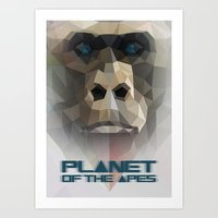 ape Art Prints featuring ape by muszka