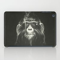 black cat iPad Cases featuring Smoke 'Em If You Got 'Em by Dr. Lukas Brezak