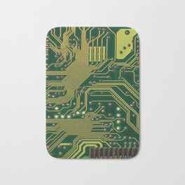 Funny Nerdy Computer Motherboard Bath Mat