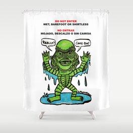 No Entrar Shower Curtain