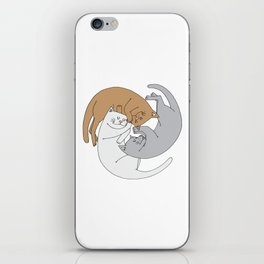 Spiral cats iPhone Skin