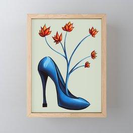 High Heel Shoe With Flowers Surreal Art Framed Mini Art Print