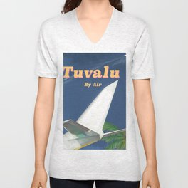 Tuvalu By air Unisex V-Neck